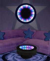 infinity mirror table. acrylic star infinity mirror table and wall display