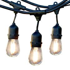 string lights outdoor lighting the home depot electric 2 watt weatherproof led string light with s14