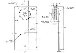 standard flat track sliding door hardware