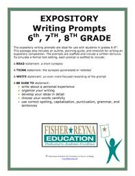 6th Grade Essay Prompts Expository Writing Prompts Grade 6 8 Staar And Cc Aligned