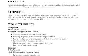 Resume Job Objective Examples Sample Objectives Resume Joefitnessstore Com