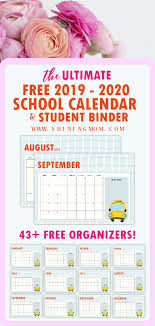 Free School Planner 43 Amazing Organizers For Students