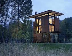Inside Washington State's Steel Cabin On Stilts - Photo 1 of ...
