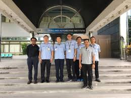 on august 18th 2017 thailand automotive insute tai give a warm wele to a group of thai yamaha motor co ltd for visiting the emission testing