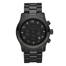 men s michael kors watches ernest jones michael kors men s black ion plated bracelet watch product number 9100725