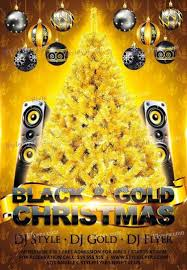 Christmas Flyer Templates Black And Gold Christmas Party Psd Flyer Template