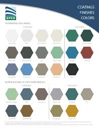 Efco Anodized Color Chart Color Chart
