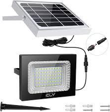 <b>IP66 Waterproof Solar</b> Floodlight Bright Lights 60 LED Spotlight Auto ...