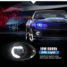 Fog Light Design Us 50 84 44 Off Buildreamen2 For Nissan Xterra N50 2005 2015 Car External Led Projector Fog Light Daytime Running Lamp White 90mm Round 12v In Car