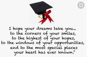 Inspirational Quotes For Highschool Graduates Interesting Short Inspirational Quotes For Graduates From Parents Quotes Yard