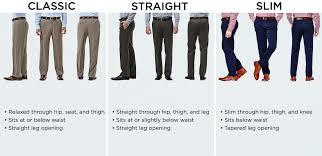 Size Chart Mens Clothing Size Chart Haggar