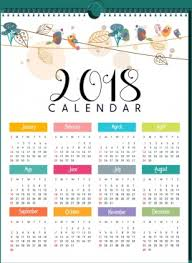 2018 calendar printable free 2018 calendar free vector download 1 490 free vector for