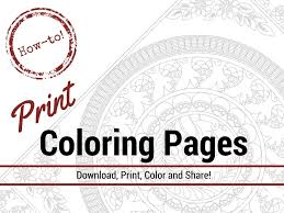 It's wonderful that, through the process of drawing and coloring, the learning about things around us does not only become joyful, but also triggers our mind to think creatively. How To Print Coloring Pages For Adults The Coloring Book Club