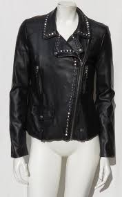 moto style studded jacket by forever 21 faux leather features an asymmetric zip front long sleeves with zippered cuffs two faux zippered pockets
