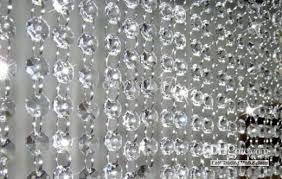 whole chandelier wedding crystal acrylic lamp curtain octagon bead chain clear bead gland 14 mm bead curtain crystal bead curtain with