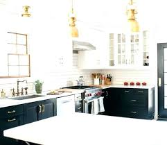 white marble countertops with dark cabinets small open kitchen