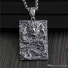 whole hip hop jewelry vintage 925 sterling silver pendant fashion dragon retro marcasite mens pendant longteng universal dragon necklace pendant gold