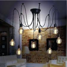 edison bulb pendant lighting modern retro 8 pendant lights hanging bulb spider night lamp fixture living edison bulb pendant lighting