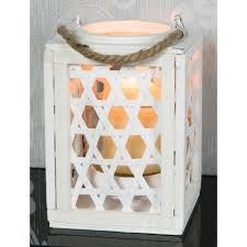 white wooden lantern square small
