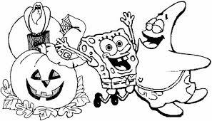 Printable Halloween Spongebob Coloring Pages Free Spongebob