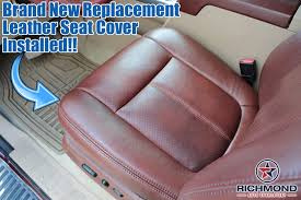 2016 ford f250 f350 king ranch driver side bottom replacement leather seat cover