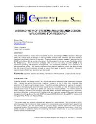 Basic Information Systems Analysis And Design Pdf A Broad View Of Systems Analysis And Design