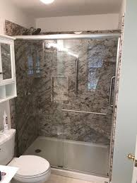 after installing new shower stall by rebath charlotte