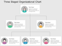 Org Chart Design Three Staged Organizational Chart Flat Powerpoint Design