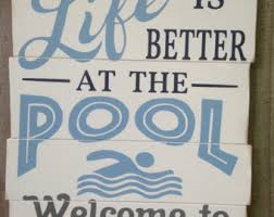 Swimming Pool Decor Signs Swimming Pool Signs Etsy 14