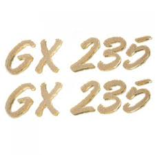 glastron boat parts accessories glastron replacement parts larson glastron 0572728 gx 235 metallic gold 5 1 2 x 1 1 4 inch boat decals pair