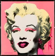 marilyn monroe pop art painting in pink background no moq