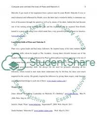 compare and contrast the lives of plato and malcom x essay  malcom x essay example text preview