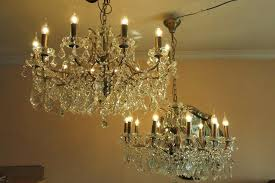 wide crystal chandelier 6 light 3 4 free pendant abovesearch com