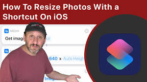 how to resize photos with a shortcut on