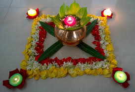 Diwali Kalash Designs Kalash Flower Rangoli For Diwali Festival Flower Rangoli
