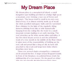 essay about my dream job essay about my dream job