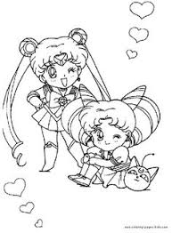 Small Picture Sailor Moon color page cartoon characters coloring pages color