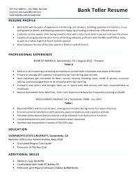 Resume Skills For Bank Teller Gorgeous Bank Teller Resume Skills And Abilities Sample Banking Resumes