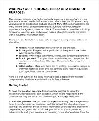 personal essay statement of purpose sample statement of purpose example essays