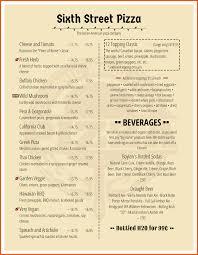 free word menu template magnificent word menu template illustration documentation free