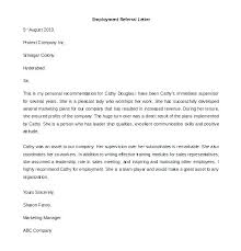 Cover Letter Referral Sample Employee Recommendation Letter For Referral An Reference Sample Free