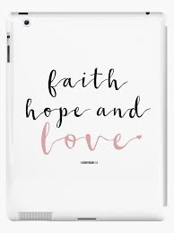 Love Faith Hope Quotes Cool Faith Hope Love Cute Girly Christian Quotes Handwritten Typography