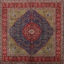 inspiration house marvelous geometric large square navy blue 10x10 tabriz persian area rug pertaining to
