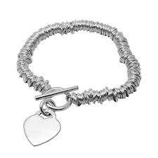 sweetie charm bracelet with heart charm