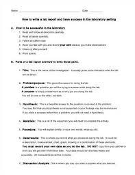 How to write a lab report conclusion high school galerisenyuz com How to  write a lab