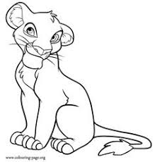Small Picture Lion King Lioness Base Lion king mother and cubs base Lineart