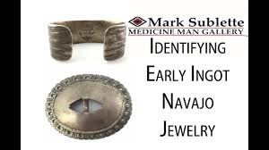 native american indian jewelry how to identify antique ingot navajo jewelry