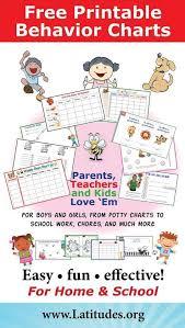 Free Printable Behavior Charts For Home School Behavior
