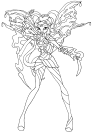 Coloriage Winx Bloomix Musa