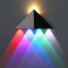 Multi Color Wall Light Lemonbest Modern Triangle 5w Led Wall Sconce Light Fixture